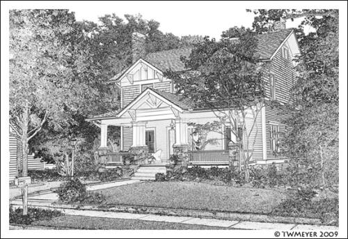 Leila Ross Wilburn designed home in Decatur Georgia, USA